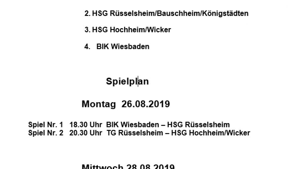 Spielplan RMC 2019